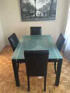 Structube Glass Dining Room Set