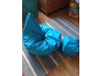 Adult bean bag and footstool