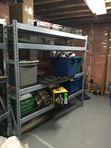 2 STEEL INDUSTRIAL SHELVING UNITS FOR SALE