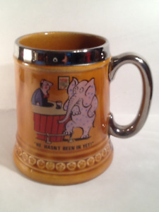 Lord Nelson Ceramic Beer Mugs 1950's  Pottery England  ( 6 )