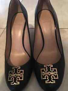 Black Size 9 Tory Burch Wedges....Excellent condition!