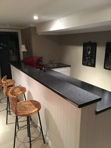 Bar area with single sink.