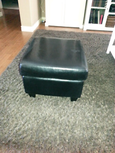 Set of 2 black ottomans