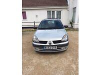 Renault Clio 1.1 2002. Low mileage **12 months MOT **