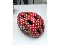 Kids Minnie Mouse cycle helmet