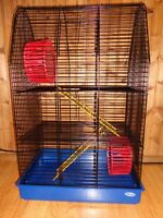 BRAND NEW Multi-level hamster rodent cage with wheels & ladders