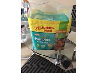 Pampers size 5 nappies