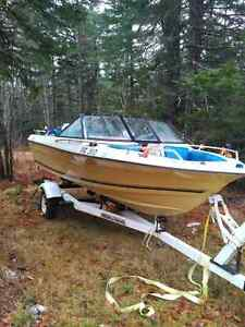 16' bowrider speed boat with trailer