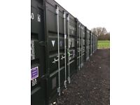 Self storage in yard with cctv and alarm system