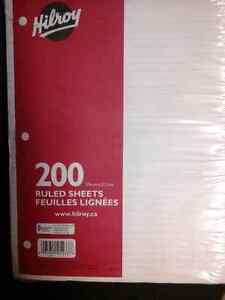Hilroy 200 Ruled Sheets (Lined Paper) Cambridge Kitchener Area image 1