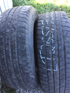 2x Hiver LT 265/70R17 10ply Michelin LTX Winter
