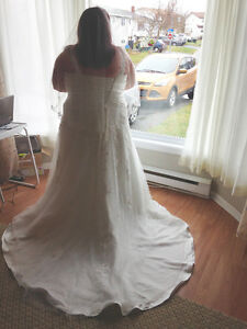 Wedding Dress & Vail for Sale
