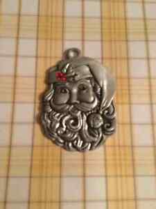 Heavy AVON Santa Claus Pewter 2012 Fine Collection Pendant