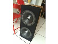 Twin JL audio subwoofers with a pioneer amp