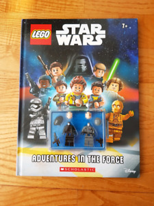 Disney Lego Star Wars Hardcover Book with 2  LEGO Mini Figures!