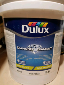 SEALED semigloss white paint  5 gallons