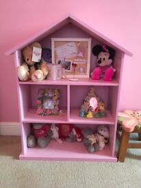 collection mia dolls house bookcase in pink