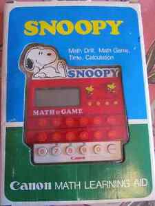 Canon Snoopy Math Learning Aid