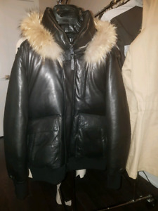 Mackage all leather bomber jacket