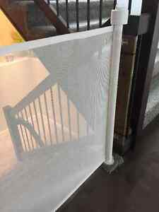 Retractable Safety gate for kids/pets-No need for clumsy gates