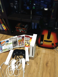 Wii w/ Guitar Hero Bundle