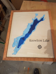 Knowlton Lake Bathymetric Map