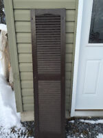 For Sale:  Set of 12 Brown Shutters **Various Sizes
