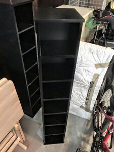 IKEA Black lacquer CD/DVD holder/stand