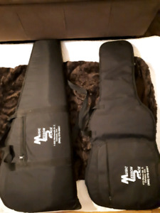 2 electric guitar cases