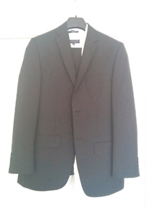 Black Haggar Suit Jacket, Pants, White  Dress Shirt