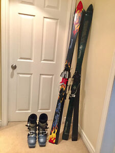 Telemark Skis and Scarpa Boots