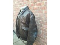 Schott Leather Jacket WW2 Style A2 Size XL for sale  Whetstone, Leicestershire
