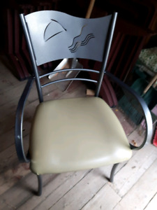 10 Ten Heavy Steel Chairs with vinyl padded seats