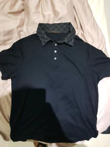 e2a7c78d LOUIS VUITTON mens polo shirt Damier Large | Tops | Gumtree ...