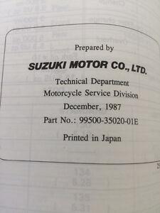 1988 Suzuki Katana GSX600F Service Manual Regina Regina Area image 4