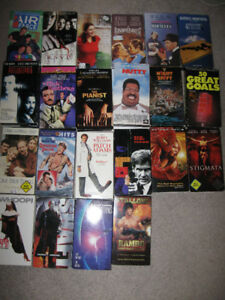 11 old movies on VHS + 2dvds -$5 lot-Chisum,Casablanca,more...