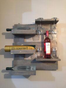 Gray wine rack