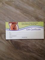 Gift cards from Peace Region Mobile Foot Care