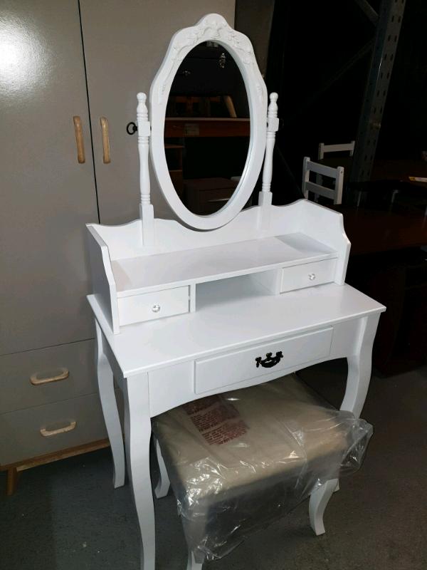 Finish Dressing Table X Mirror Stool, Mirrored Dressing Table Set Gumtree
