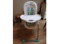 Mothercare High Chair, multi height & sitting position