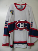 NHL MONTREAL CANADIENS CCM VINTAGE HOCKEY JERSEY OFFCIAL SIZE XL