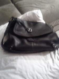 Great condition navy leather purse. Brighton.