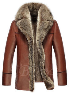 Woman's PU Jacket with Thicken Fur Collar.
