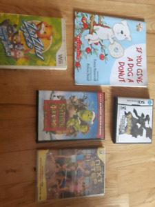 Nintendo DS, Wii Game, and DVD