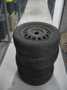 Honda Civic 4 Rims with used winter Tires