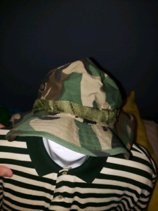 Camouflage Bucket Hat with Strap