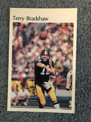 5234f9853f4 1980 NFL Football Pittsburgh Steelers Terry Bradshaw mini poster