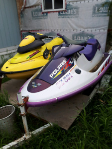 2 seadoos trade for a pair of quads or side by side
