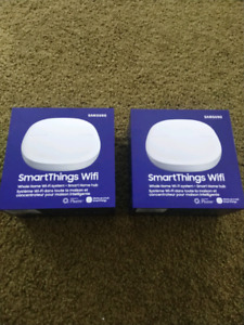 2 Samsung SmartThings wifi router and smart home hub