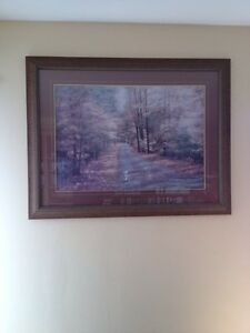 Beautiful Large Wall Print Framed: $50 Great Christmas Gift!